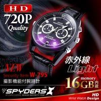腕時計型カメラ「赤外線暗視/内蔵16GB/ボイスレコーダー/webカメラ/黒」