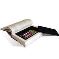 ブック型カモフラージュ金庫「ページもめくれる!本タイプの隠し金庫/判子やUSBメモリ等小物の隠し場所に」