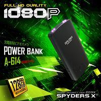 モバイルバッテリー型カメラ「128GB対応/大容量9600mAh/赤外線暗視録画/AV出力対応」