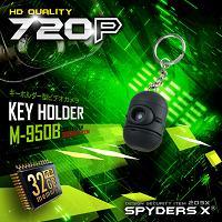 キーホルダー型カメラ「かわいい隠しカメラ/26g軽量コンパクト/32GB内蔵/動体検知録画/黒」