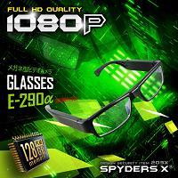 メガネ型カメラ「不可視タイプの眼鏡中央のレンズ/内蔵128GB/フルHD録画/12時間録画」